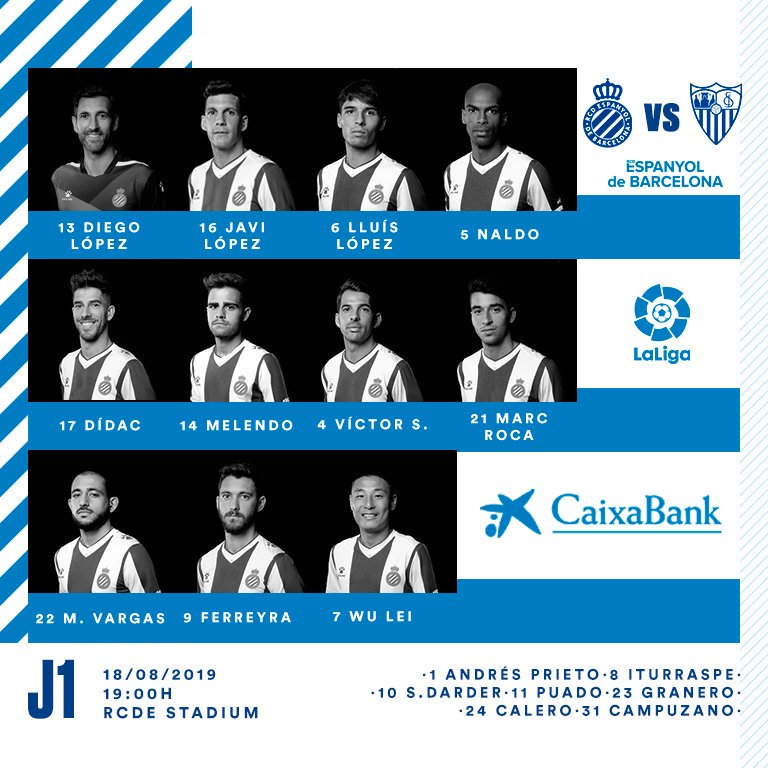 Kick off – Espanyol vsSevilla