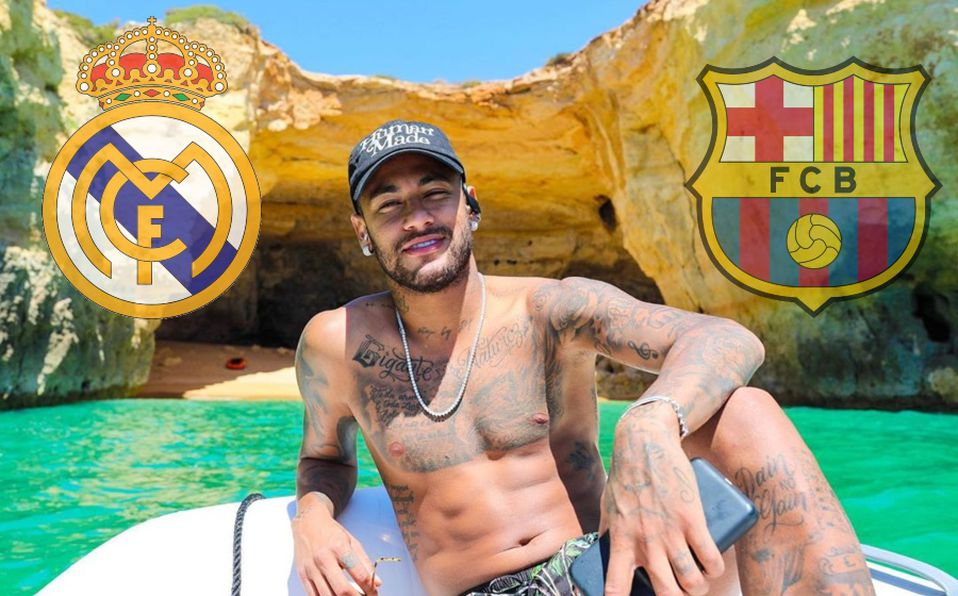 Neymar on the beach